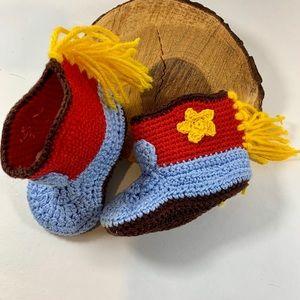 Other - NWOT Newborn Crochet Baby Boy Girl Booties